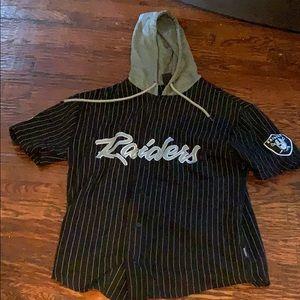 Raiders hoodie jersey